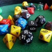 La collection de dés de jeux de rôle