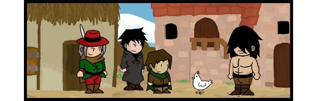 Dungeon skippers un webcomic d'heroic fantasy