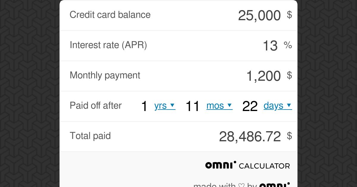 how to payoff a credit card