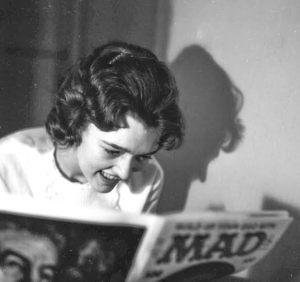 Nancy read deeply in great literature during college. 1963.