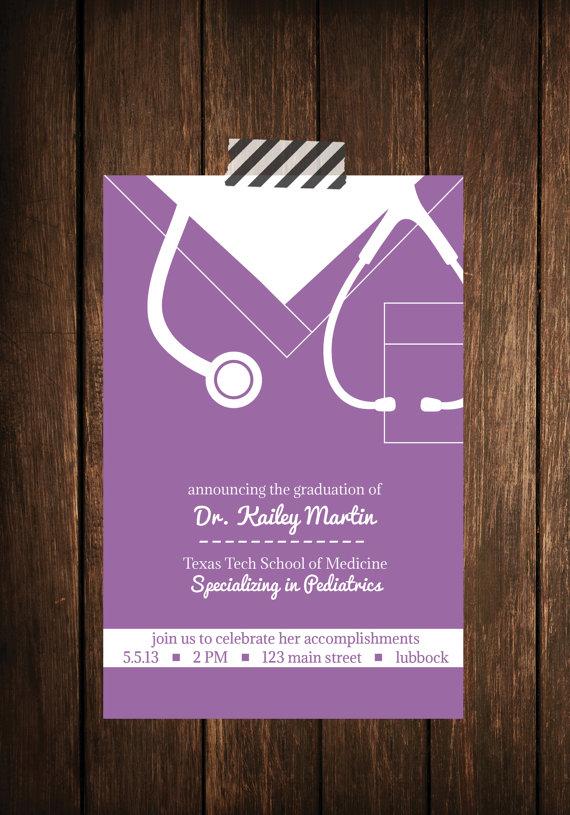 Nurse bling Custom graduation invitations Scrubs - The Leading - graduation photo invitations