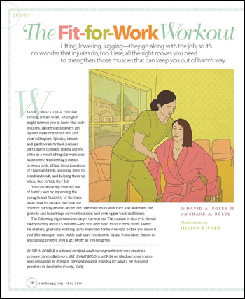 The fit-for-work workout for nurses Scrubs - The Leading Lifestyle - Work Articles