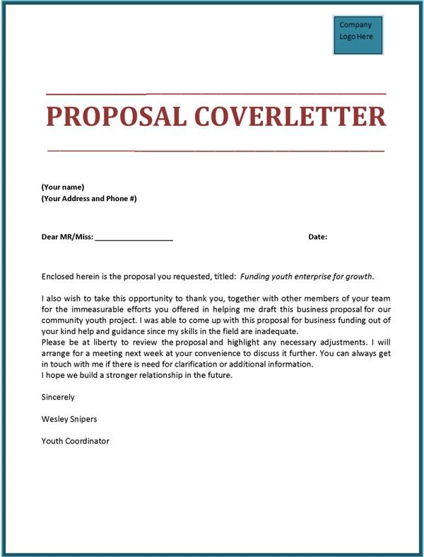 Bid Proposal Cover Letter scrumps