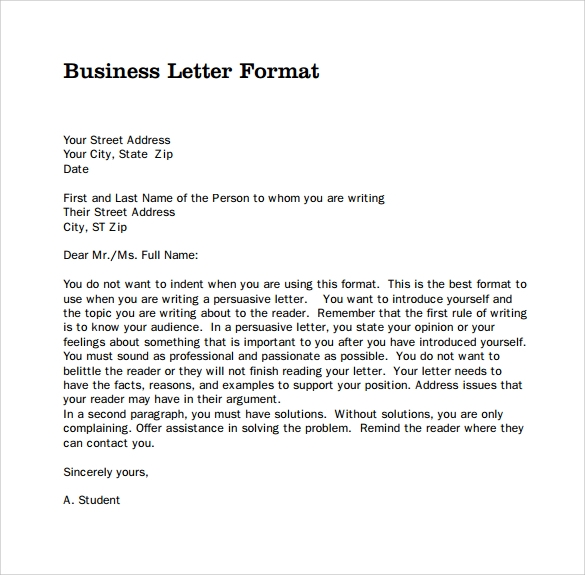 Business Correspondence Format scrumps