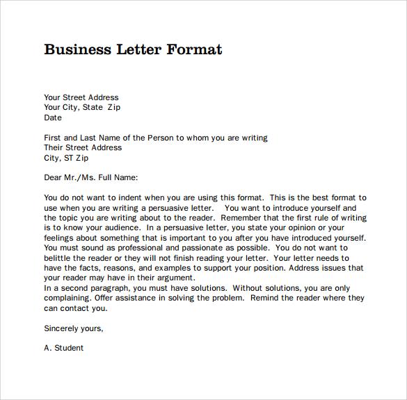Business Correspondence Format scrumps