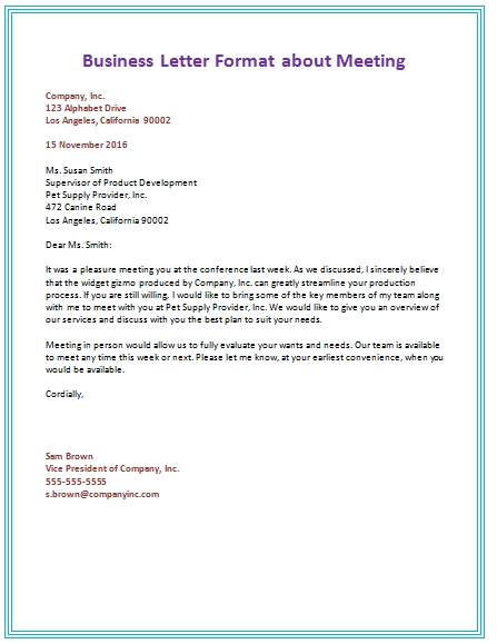Business Letter Fromat scrumps