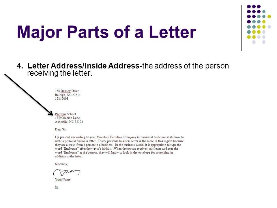 Business Letter Inside Address scrumps