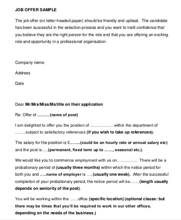 Business Offer Letter scrumps
