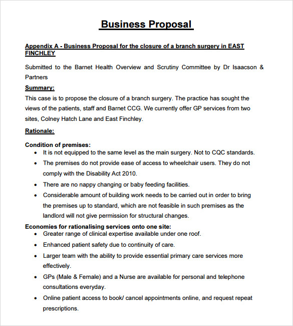 Business Proposal Examples Free scrumps