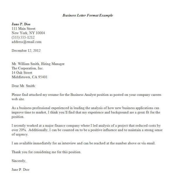 Formats Of Official Letters scrumps