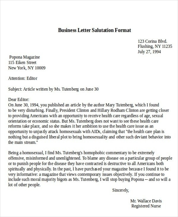Greetings For Business Letter scrumps