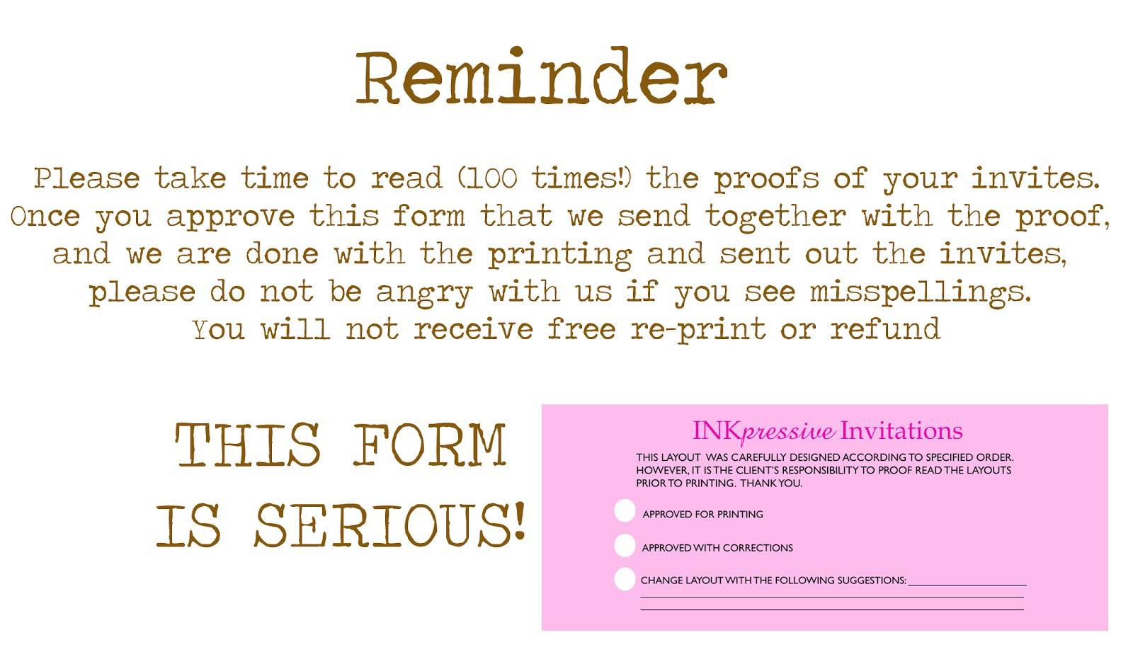 event reminder wording