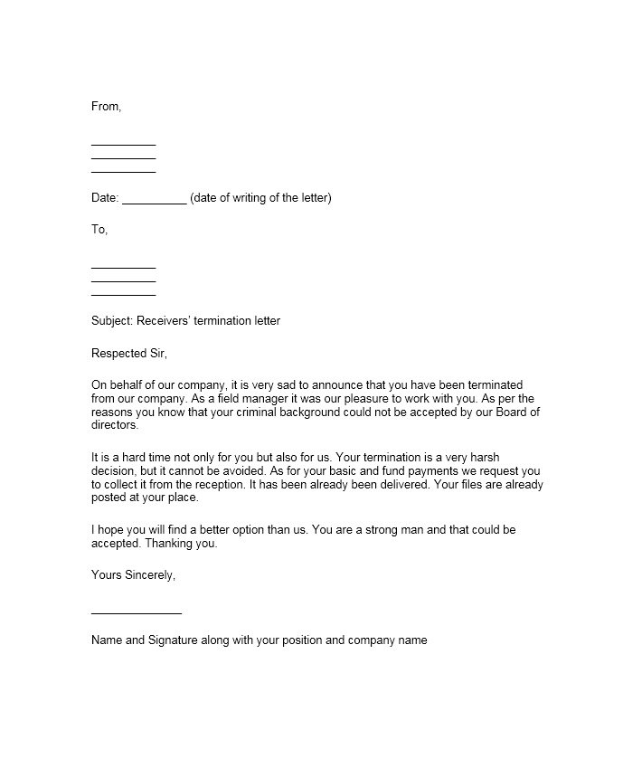 Letter Of Termination Examples scrumps - Example Of A Termination Letter