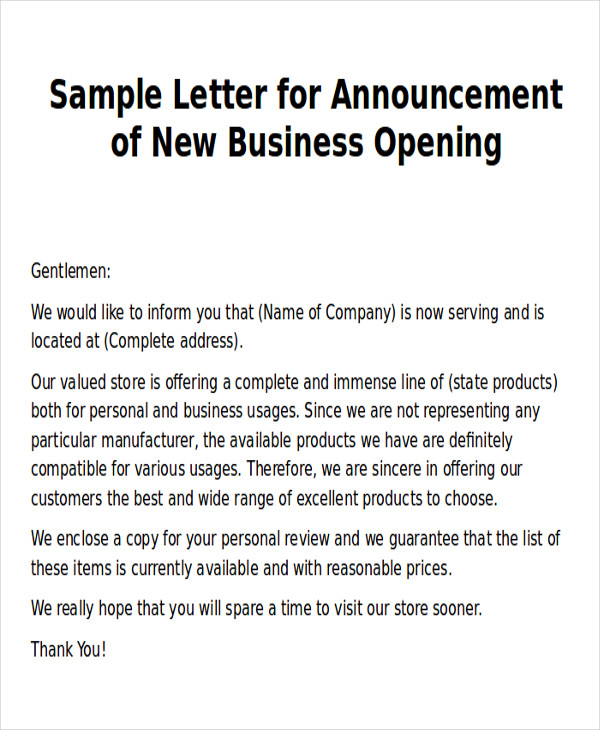 New Business Letters scrumps