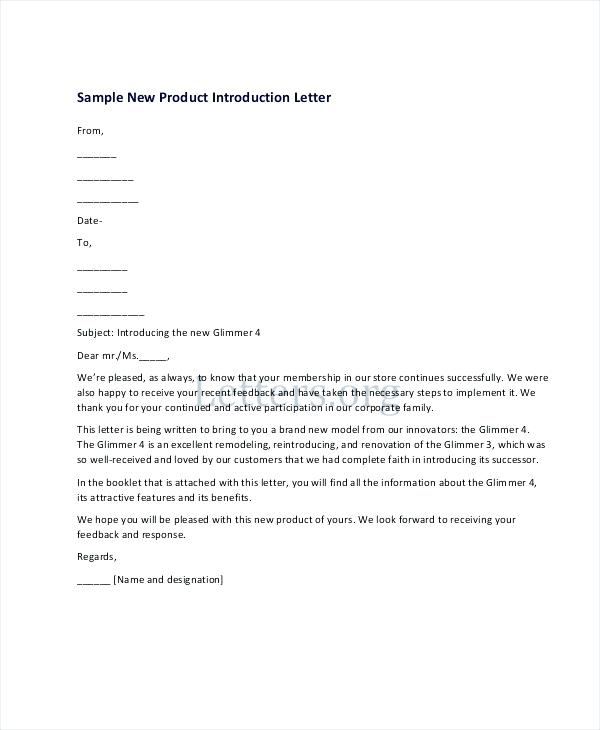 New Product Introduction Letter scrumps