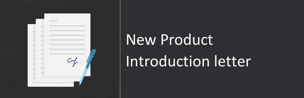 Products Introduction Letter scrumps