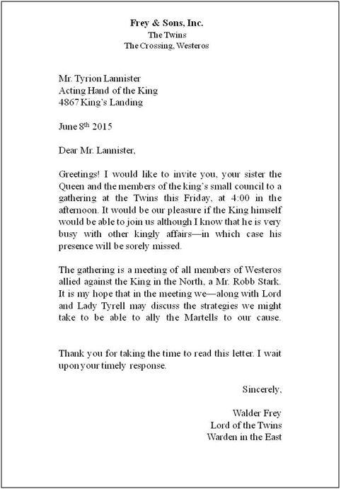 Proper Form For Business Letter scrumps