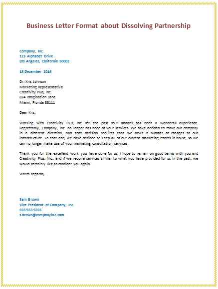 Sample Of Business Letter scrumps