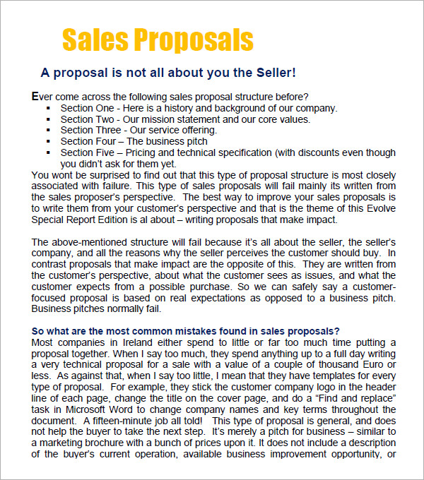 Cover Letter For A Sales Proposal - How To Write a Killer Proposal
