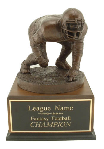 Deep Plate Fantasy Football Trophies Lineman Trophy