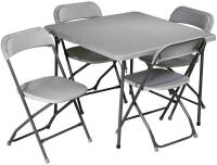 Office Star 5 Piece Folding Table and Chairs Set - Sd ...
