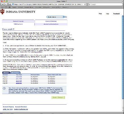 1098-T Tax Form All IU Campuses OneIU - tax form