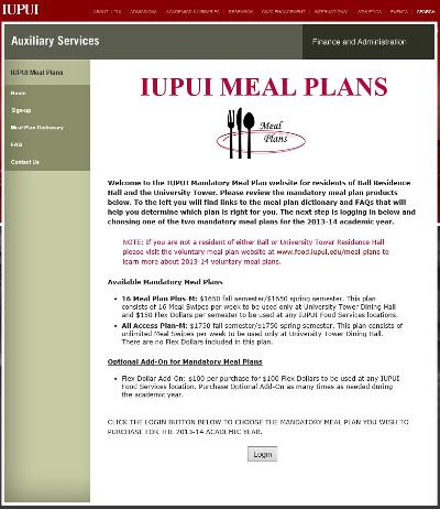 Meal plan (IUPUI Meal Plan) IUPUI Indianapolis OneIU - meal plans
