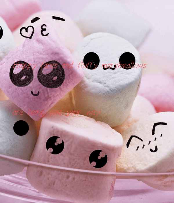 Cute Japanese Iphone Wallpaper Happy Faces And Fluffy Marshmallows Are Being Sent Your