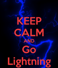 KEEP CALM AND Go Lightning Poster | Sean | Keep Calm-o-Matic