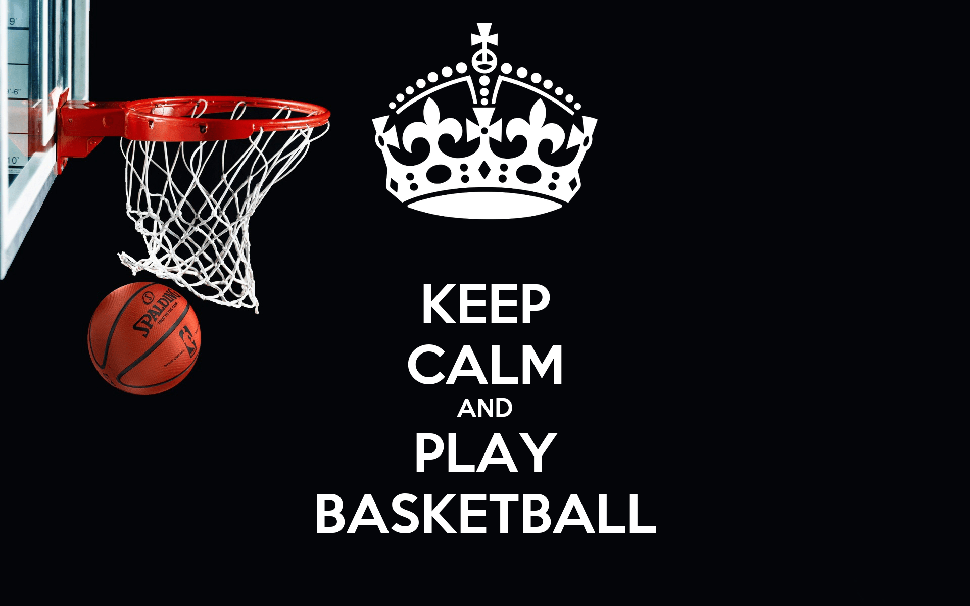 Baby Girl Wallpapers With Quotes Keep Calm And Play Basketball Poster Nick Bui Keep