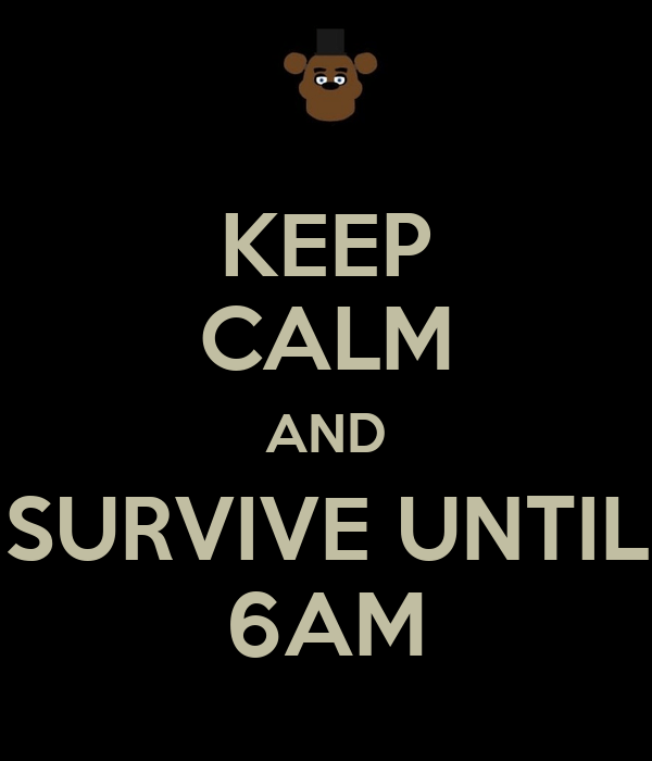 Cute Freddy Fazbear Wallpaper Keep Calm And Survive Until 6am Poster Freddy Keep