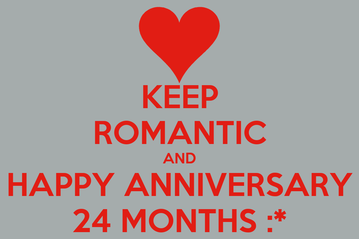 Happy 24 Keep Romantic And Happy Anniversary 24 Months Poster
