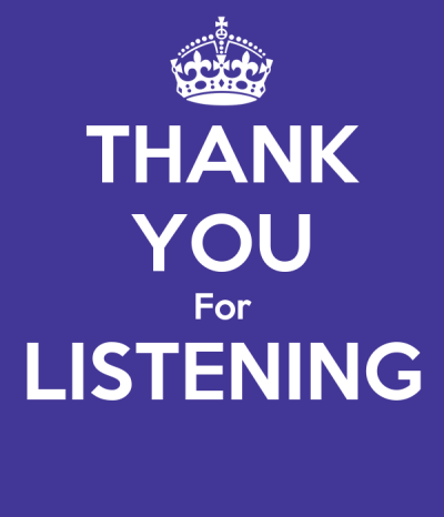 THANK YOU For LISTENING Poster | minh nguyen | Keep Calm-o-Matic