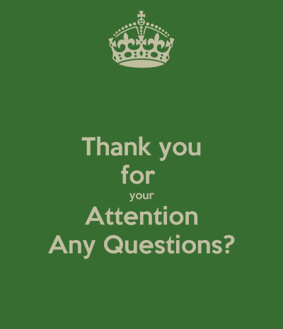 Thank you for your Attention Any Questions? Poster   franzrehcabzterueht   Keep Calm-o-Matic