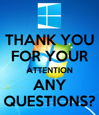 THANK YOU FOR YOUR ATTENTION ANY QUESTIONS? Poster | NonStop | Keep Calm-o-Matic