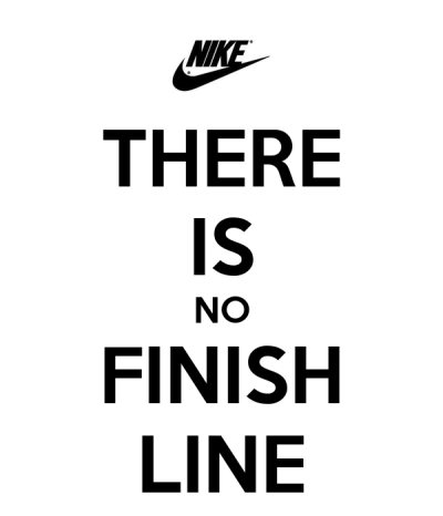 THERE IS NO FINISH LINE - KEEP CALM AND CARRY ON Image Generator