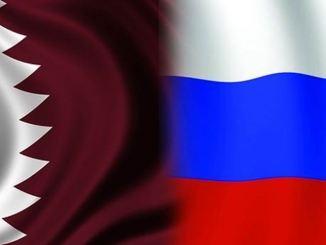 علما قطر وروسيا