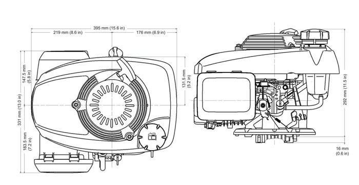 schema moteur tondeuse honda