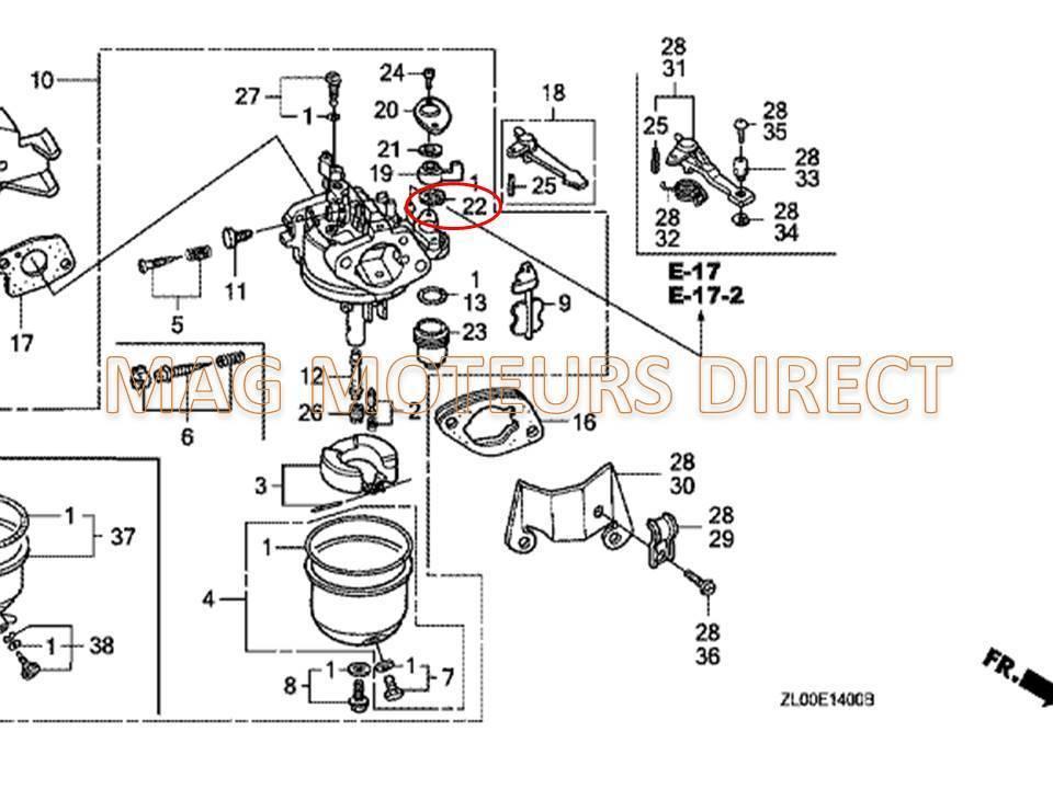 mitsubishi schema moteur tondeuse rsc