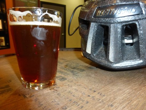 Evil Dead Red on Tap with my bike helmet.
