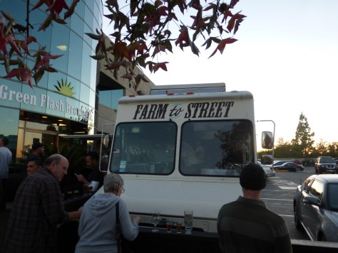 MIHO truck in front of Green Flash.