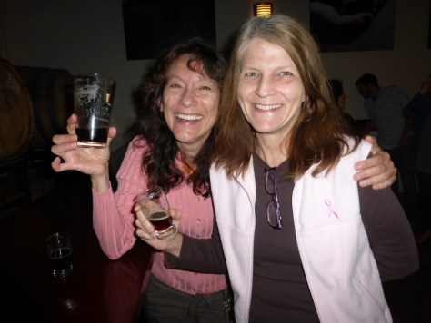 My mom and her friend Ana enjoying some Alesmith beers.