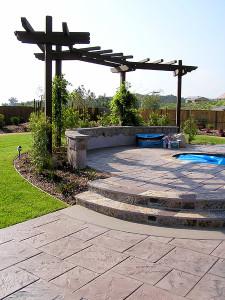 Stamped Concrete Patios Pros And Cons Landscape Design