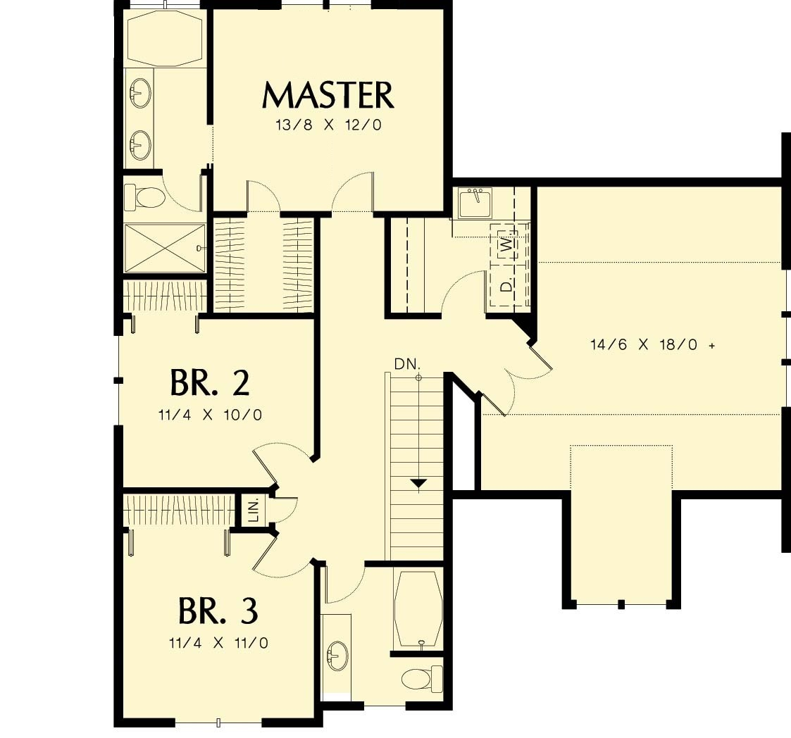 2nd Floor House Plans Craftsman Home Plan Second Floor Layout Sdl Custom Homes