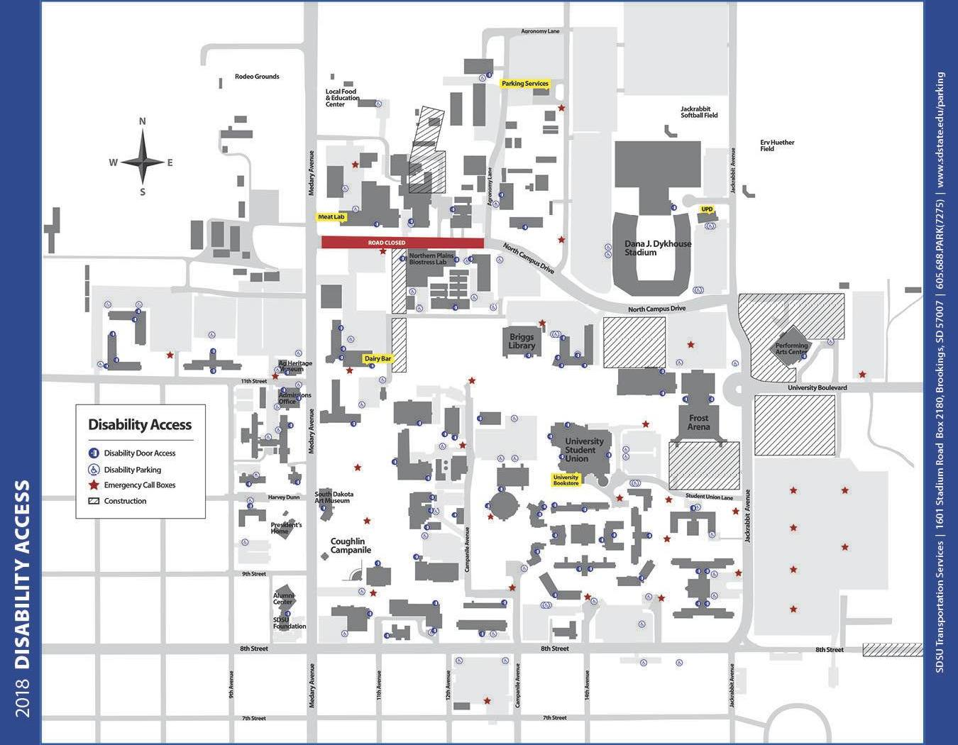 East Garage Uno Parking Maps South Dakota State University