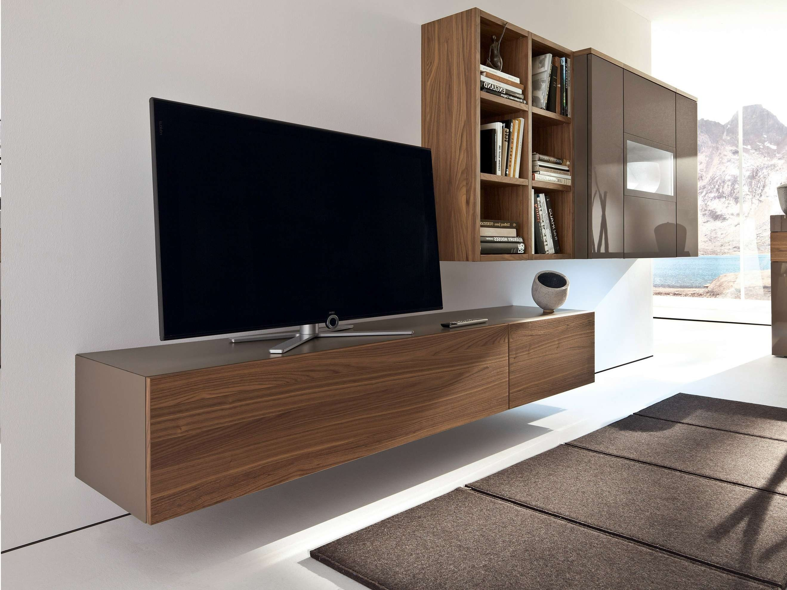 Hanging Media Console 20 Inspirations Of Modern Low Profile Tv Stands