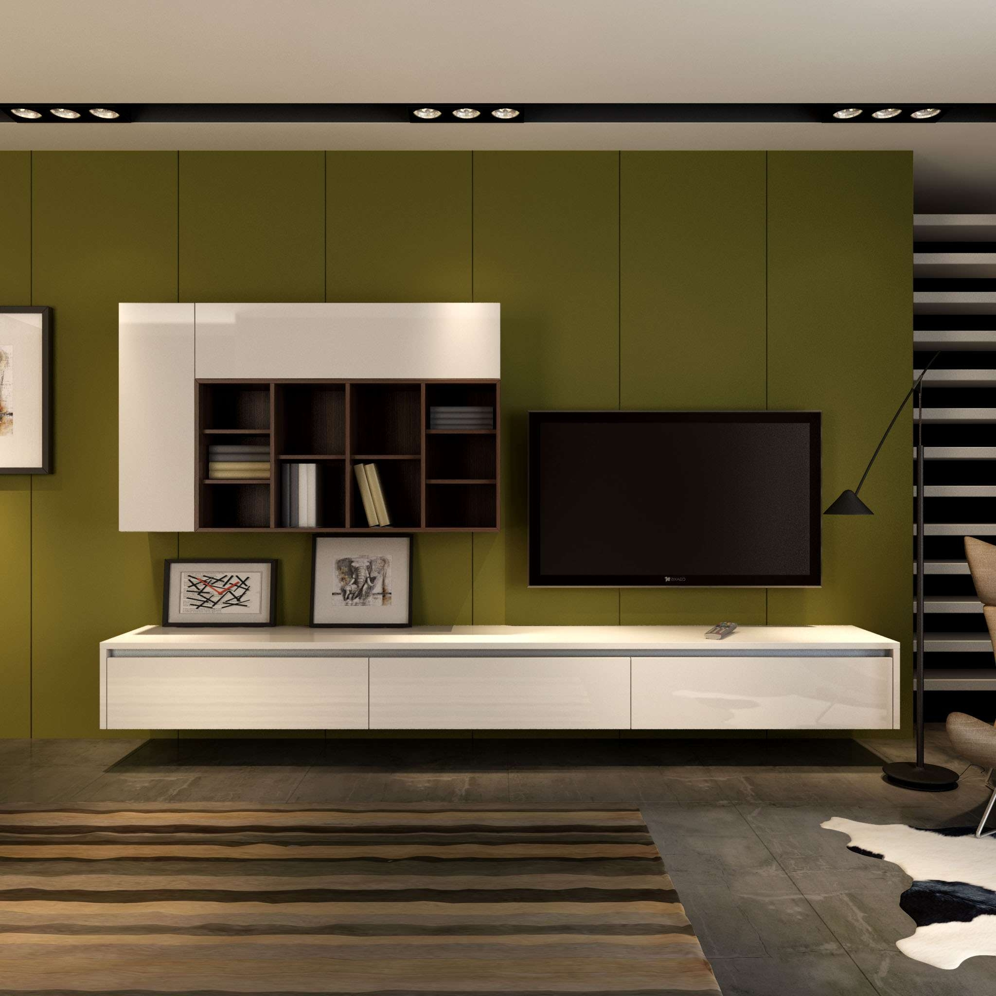 Modern Tv Stand Designs Wooden : Tv stand wall unit wall units entertainment wall unit with 9