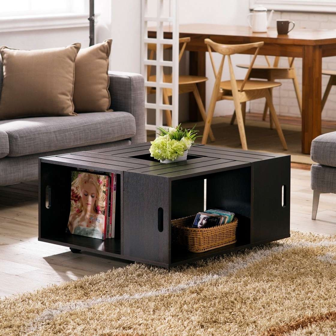 Small Square Coffee Table With Storage 20 Photos Small Coffee Tables With Shelf