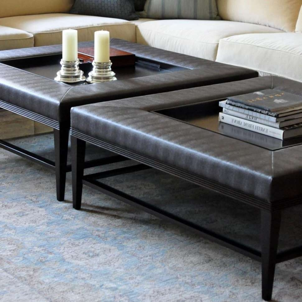 Square Ottoman Coffee Table 2018 Popular Extra Large Coffee Tables Square Ottoman Coffee