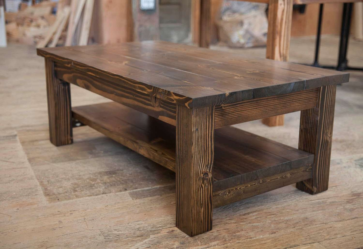 Coffee Wood Table Rustic Coffee Table Buethe Org